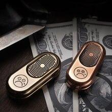 Латунный Топ push coin гироскоп для пальцев edc декомпрессионная