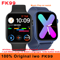 Оригинальные Смарт-часы iwo FK99, новинка 2021, 44 мм, воспроизведение музыки, часы с Bluetooth, беспроводное зарядное устройство, пульсометр, Смарт-час...