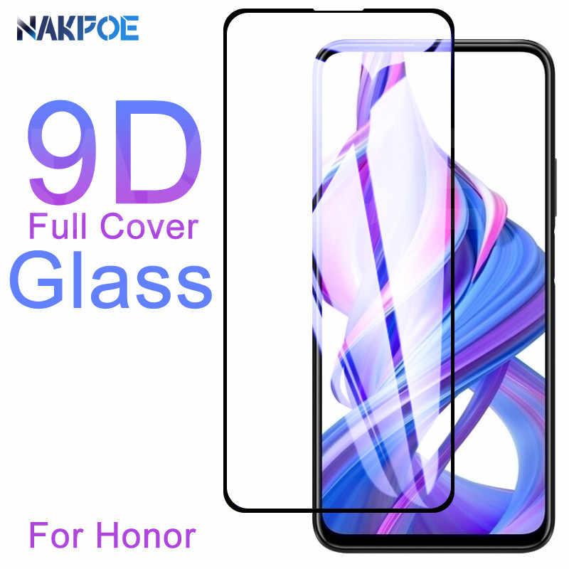 9D Kaca Pelindung Di untuk Huawei Kehormatan 8X9X8 S 8A 8C 9i 10i 20i V20 V10 20 Lite 20S Tempered Kaca Film Pelindung Layar Case