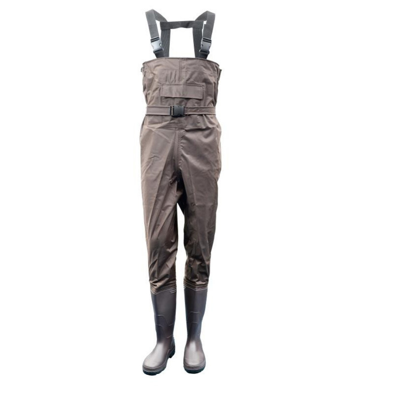 Eu 38-47 Men Women Fishing Trousers Boots Waterproof Anti-wear Jumpsuit Quick Drying Wader Hunting Working Wading Pants Shoes