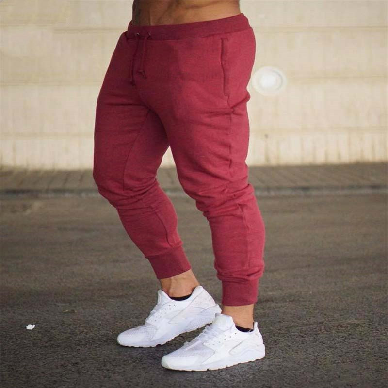 2020 Autumn new mens cotton Sweatpants gyms Fitness workout solid trousers male Casual fashion Pencil Pants Joggers sportswear