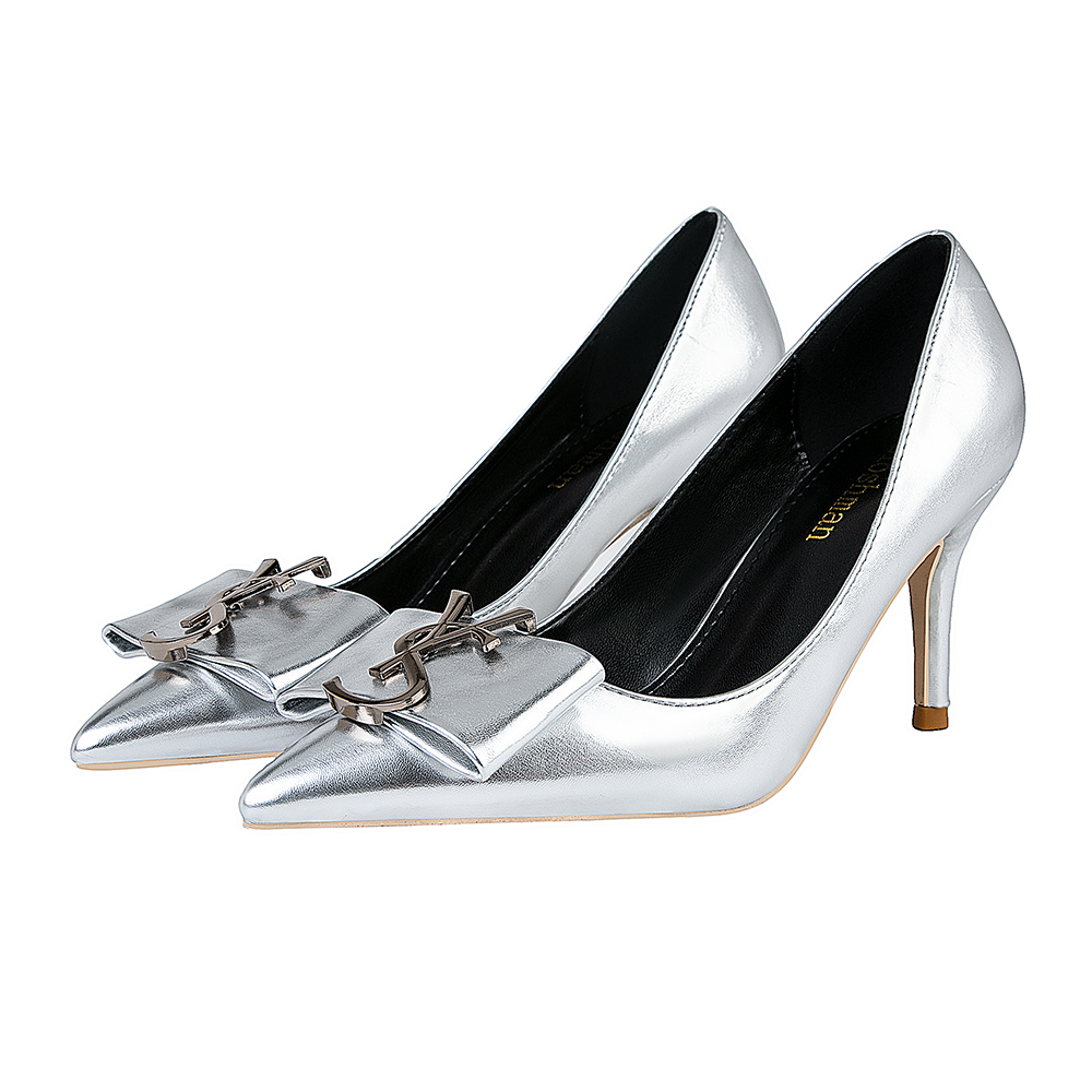 Patent Leather Pumps Women Shoes Size34-41 Summer Sexy Shallow Office High Heels Height 7CM Pointed Toe Slip-On Ladies Shoes