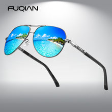 Fuqian Роскошные авиаторы поляризованные солнцезащитные очки