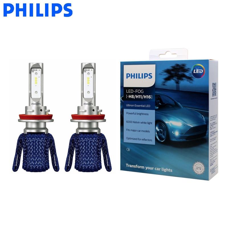 Genuine Philips H8 H9 H11 H16Ultinon Essential LED Car Beam 6000K White Light