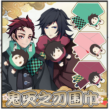 Anime Demon Slayer Kimetsu No Yaiba Tanjiro Kamado Nezuko Cosplay Costumes Scarves