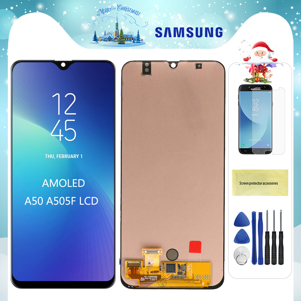 Original Super AMOLED LCD For Samsung Galaxy A50 SM-A505FN/DS A505F/DS A505 LCD Display Touch Screen Digitizer Assembly image