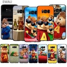 EWAU Alvin y las ardilla suave TPU funda de teléfono para Galaxy S6 S7 Edge S8 S9 S10 Plus Note 10 8 9 M10 20 30 40