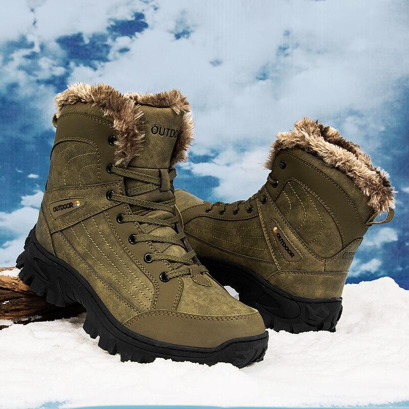 Ботинки HUCDML мужские зимние, высокие спортивные ботинки, на толстой подошве и бархатной подкладке, теплые, Прямая поставка