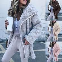 Teddy – manteau en fausse fourrure épaisse pour femme, décontracté, couleur unie, hiver, 475 #