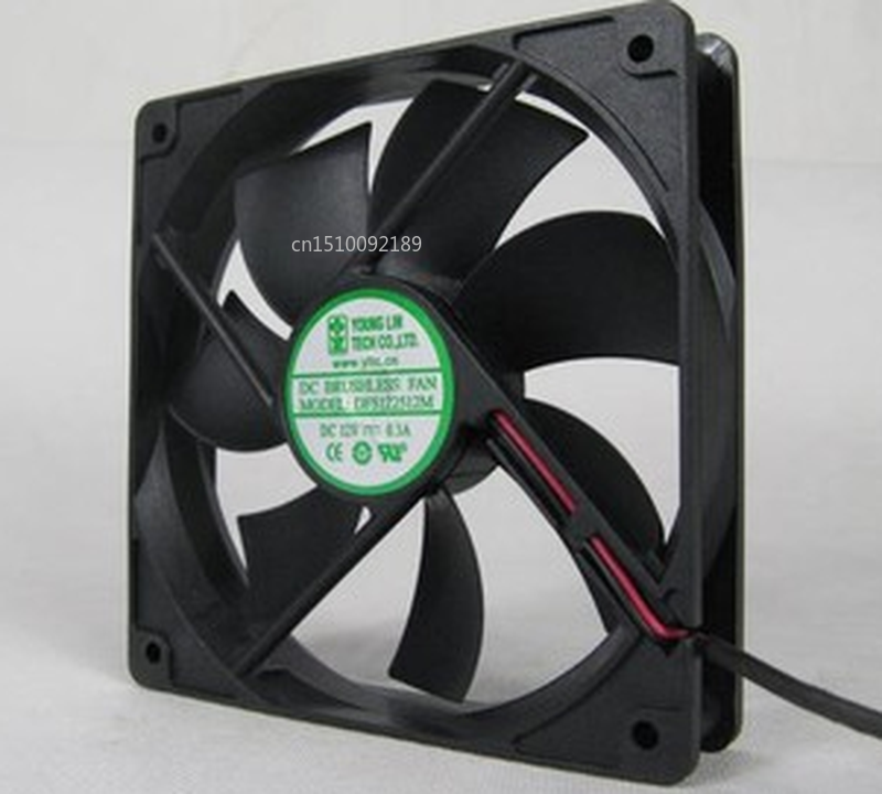 Free Shipping 12025 12CM 12V DC Chassis Cooling Fan DFS122512M Mute