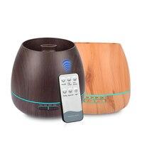 550ml Aroma Ätherisches Öl Diffusor Ultraschall-luftbefeuchter mit Holzmaserung elektrische Led-leuchten aroma diffusor für home