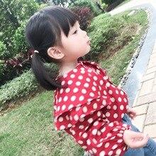 Детская одежда; коллекция года; милая рубашка для девочек с гофрированным воротником; детская рубашка с длинными рукавами; Dy023