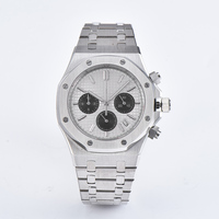 41mm Men Watch VK Quartz Movement Japanese Chronograph Watch Stainless Steel Bracelet Sapphire Crystal Wristwatch Men