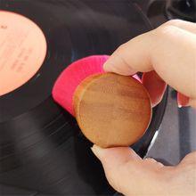 Szczotka do czyszczenia drewnianego uchwytu miękka szczotka do czyszczenia akcesoriów winylowych LP Player tanie tanio XINYUANSHUNTONG CN (pochodzenie) Wooden Miękka torba handle 33mm 1 29in brush length 38mm 1 49in