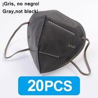 20PCS Gray FFP2