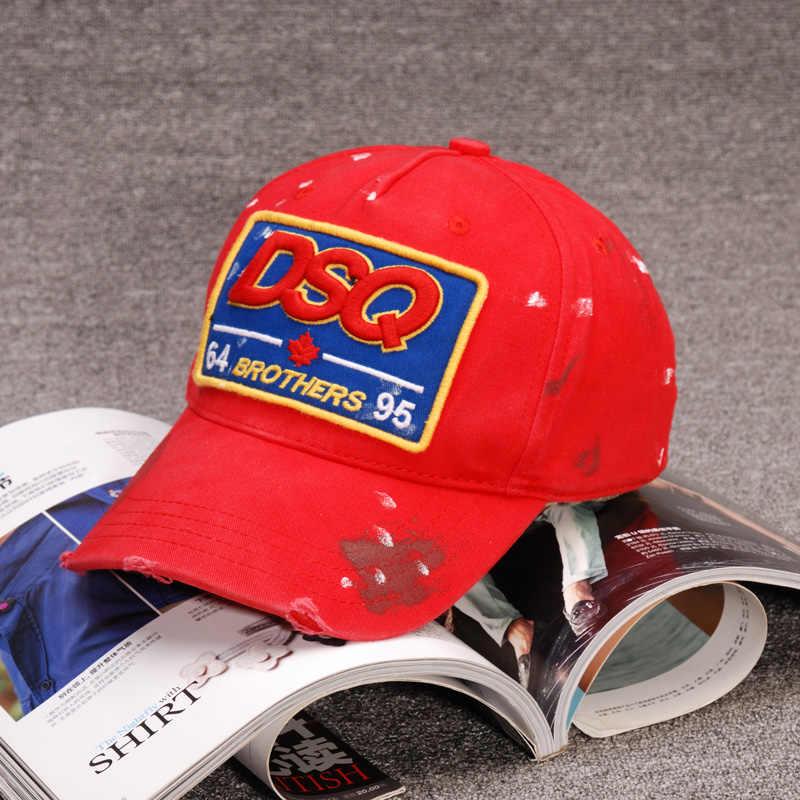 Di Marca di modo DSQ Cappellini Da Baseball DSQ Logo Del Cappello Nero Papà Cappelli Modello Solido Cappelli Lettere DSQ2 Casquette Hop del Berretto Da Baseball di Snapback cap
