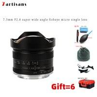 7artisans 7.5mm f2.8 fisheye lens 180 APS C Manual Fixed Lens For Sony E Mount Canon EOS M Mount Fuji FX M4/3 Mount