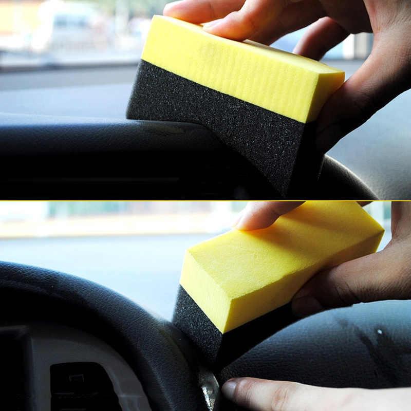 Juego de 5 uds de pinceles multifuncionales para ruedas de coche, esponja para encerar y limpiar el Interior, herramientas de pulido y accesorios de coche