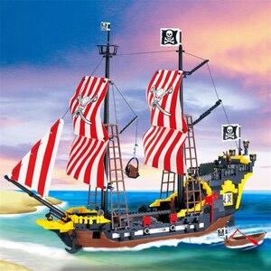 Image 1 - 870 + шт., Детский конструктор «пиратский корабль»