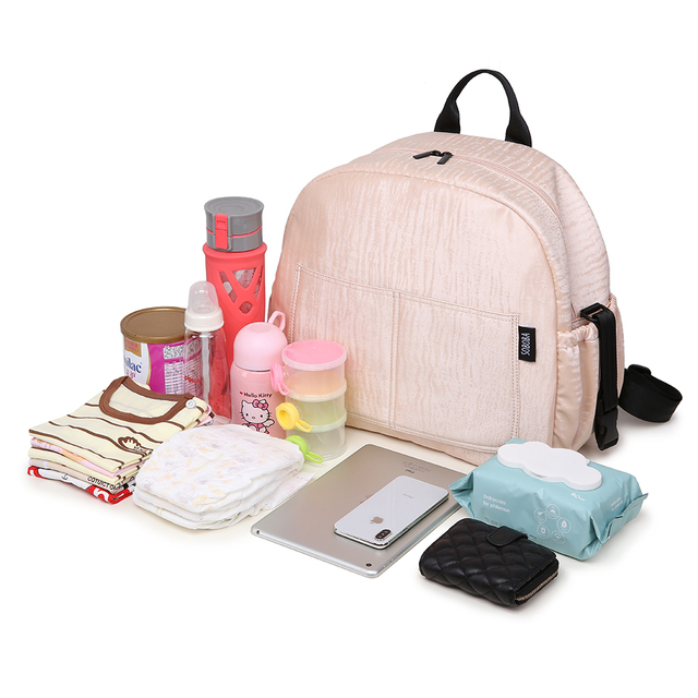 Soboba Multi-functional Diaper Backpack Set Pink Waterproof Large Capacity Maternity Nappy Changing Bag for Mother Diaper Bag | Happy Baby Mama