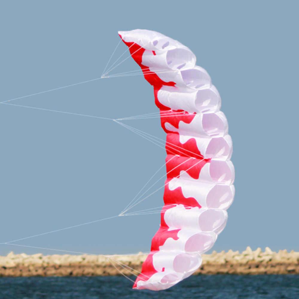 Esportes ao ar livre 2m Poder Linha Dupla Conluio Parafoil Kite Soft 30m Linha de Pipa com Alça fácil de Voar voar Praia De Pipa