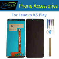 "Original Quality 5.7"" For Lenovo K5 Play L38011 LCD Display With Touch Screen Glass Sensor Digitizer Assembly With Tools Tape"