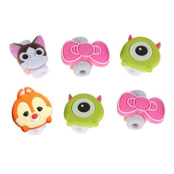 Cartoon Cable Protector Data Line Break-Proof Protective Cover Charging Cable Winder Multi-Purpose Cartoon Earphone Cable Reel image
