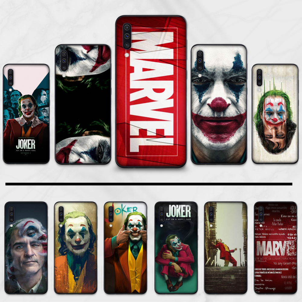 <font><b>Marvel</b></font> mafex joker Black TPU Soft Rubber Phone Cover For <font><b>Samsung</b></font> S6 <font><b>S7</b></font> <font><b>edge</b></font> S8 S9 S10 e plus A10 A50 A70 note8 J7 2017 image