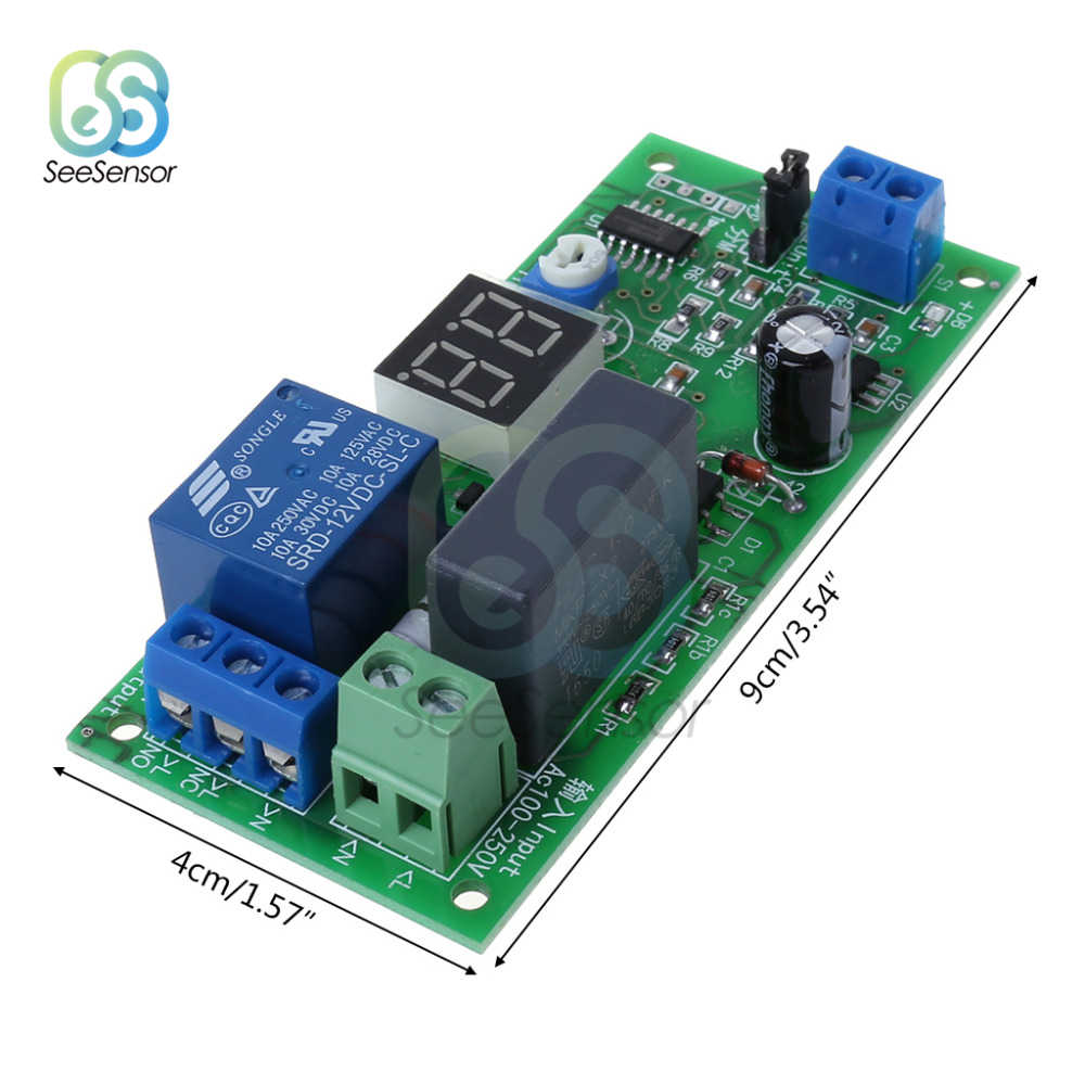 AC220V LED Digital Delay Timer Switch Mematikan Papan 0-99 Detik/Menit Delay Relay Modul