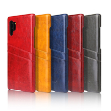 Luxury phone Case For Samsung galaxy Note 10 PU Leather Card Holder Wallet Back Cases Cover For Samsung galaxy Note 10 Pro protective lychee pattern pu leather case w card slots holder for samsung galaxy note 3 black