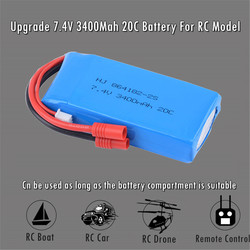Upgrade Lipo Battery 7.2V 7.4V 3400mAH 2S 20C Battery For Syma X8C/X8W/X8G/X8HG Drone RC Model Parts Rechargeable Battery