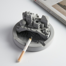 Chiński styl popielniczka cementowa spersonalizowane kreatywny salon popielniczka nowoczesne Ceniceros Creativos wystrój domu popielniczka DA60YHG cheap CN (pochodzenie) ashtray ROUND Przenośne ceramic New Chinese style