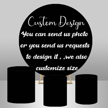 Elastic Round Backdrop 180cm with 3 Cylinder covers
