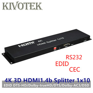 Image 1 - 10 Ports HDMI Splitter,4K 3D EDID Amplifier split 1 Hdmi to Ten Displays,Female Connectors for HDTV Display Free Shipping