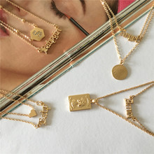 New Arrivals Gorgeous Light Gold Color Baby Babygirl Amor Angel Heart Coin S Pendant Layat Necklace For Women Girl Love Jewelry