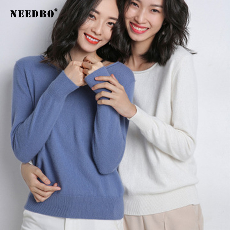 Knit Winter Sweater Women High Elastic Womens Pullover O-neck Ladies Autumn