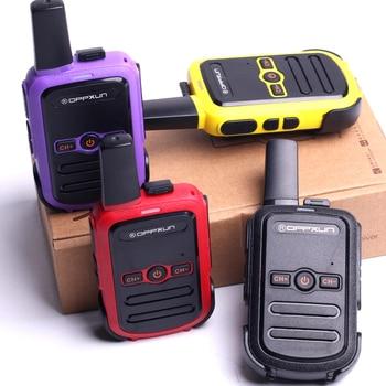 2pcs OPPXUN C51 MINI Walkie Talkie Portable Ham Radio Station Telsiz Headset Transceiver Children Long Range cb Radio Telefon CD 6