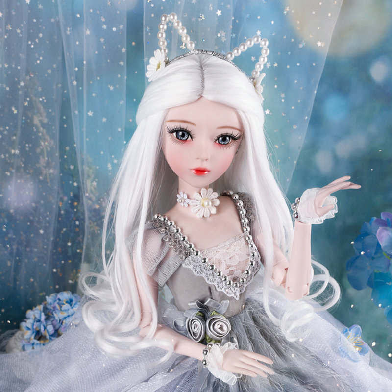 60cm 1//3 BJD Doll Girls Ball Jointed Dolls With Full Set Changeable Eyes Clothes