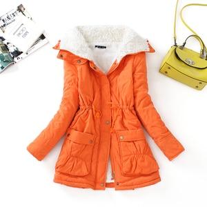 Image 5 - Fitaylor kış pamuk ceket kadın ince kar dış giyim orta uzun ceket kalın pamuk yastıklı sıcak pamuk Parkas