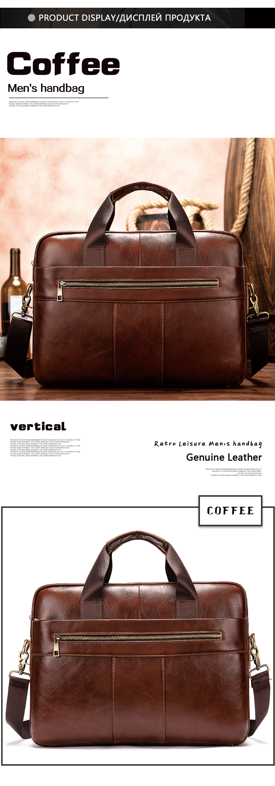 H7a3f4a6701344adf88022352851815a3f WESTAL Men's Briefcase Men's Bag Genuine Leather Laptop Bag Leather Computer/Office Bags for Men Document Briefcases Totes Bags