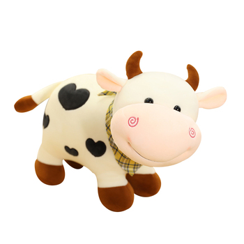 Hot Nice 25cm/30/40cm New Plush Cow Toy Cute Cattle Stuffed Animals Soft Doll Kids Toys Birthday Gift for Children