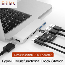2 USB C Hub to TF SD Card Reader for MacBook Pro/Air 2019 Splitter Type HDMI Thunderbolt 3 Adapter 3.0 Dock