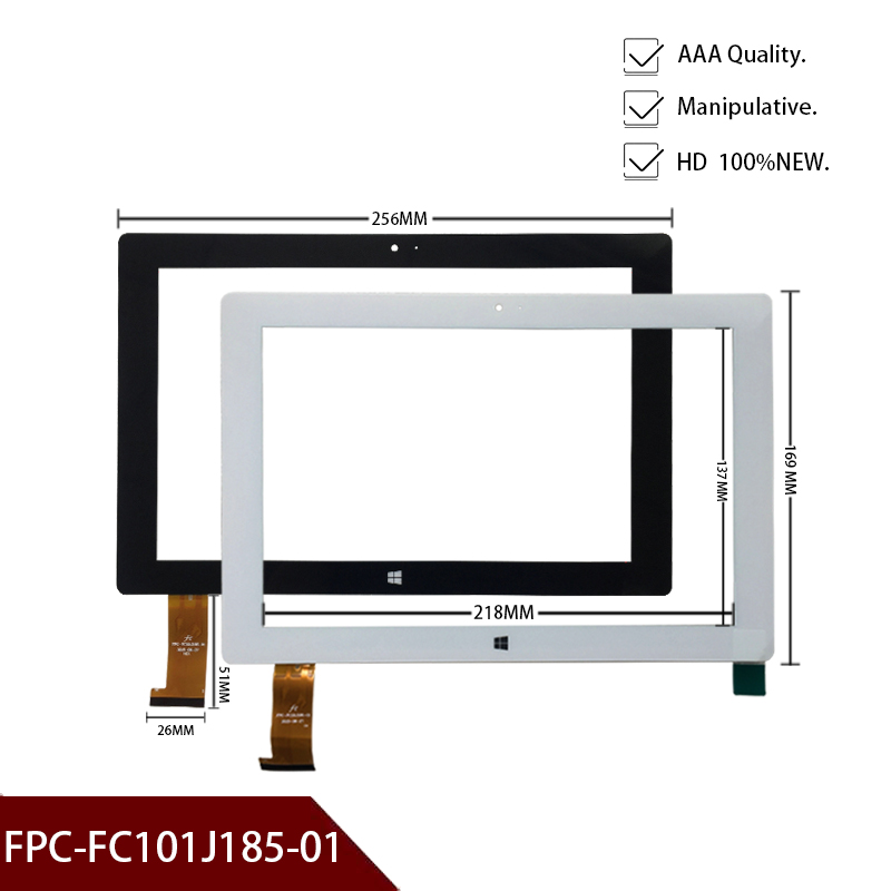 New Black 10.1'' Inch Tablets Capacitive Touch Screen Kingvina FPC-FC101J185-01 Touch Panel FPC - FC101J185 - 01 Free Shipping