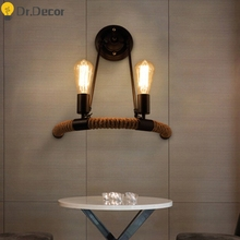 Modern Iron Wall Lamp American Retro Art Bedroom Lamp Wall Lights for Home Mirror Light Living Room Dining Room Wall Sconce Lamp modern wall lamps indoor bedroom reading sconce lamp aluminum wall lamp restaurant bar coffee dining room wall lights for home