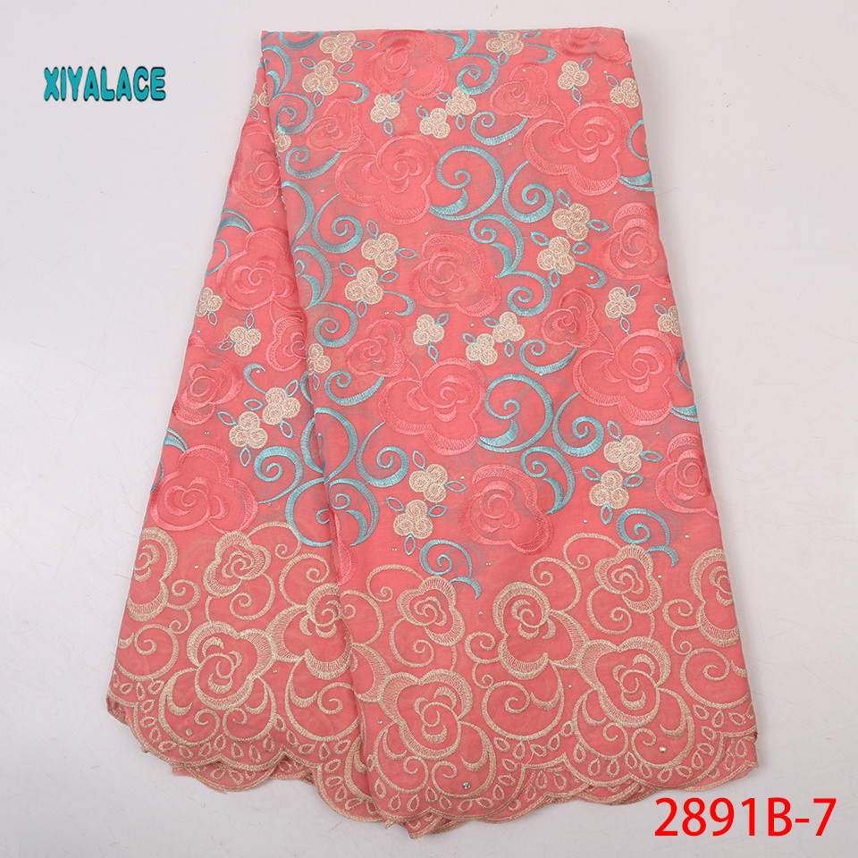 Nigerian Lace Fabrics Swiss Voile Lace In Switzerland Tissu Dentelle African Dresses For Women Swiss Lace Fabric 5yard YA2891B-7