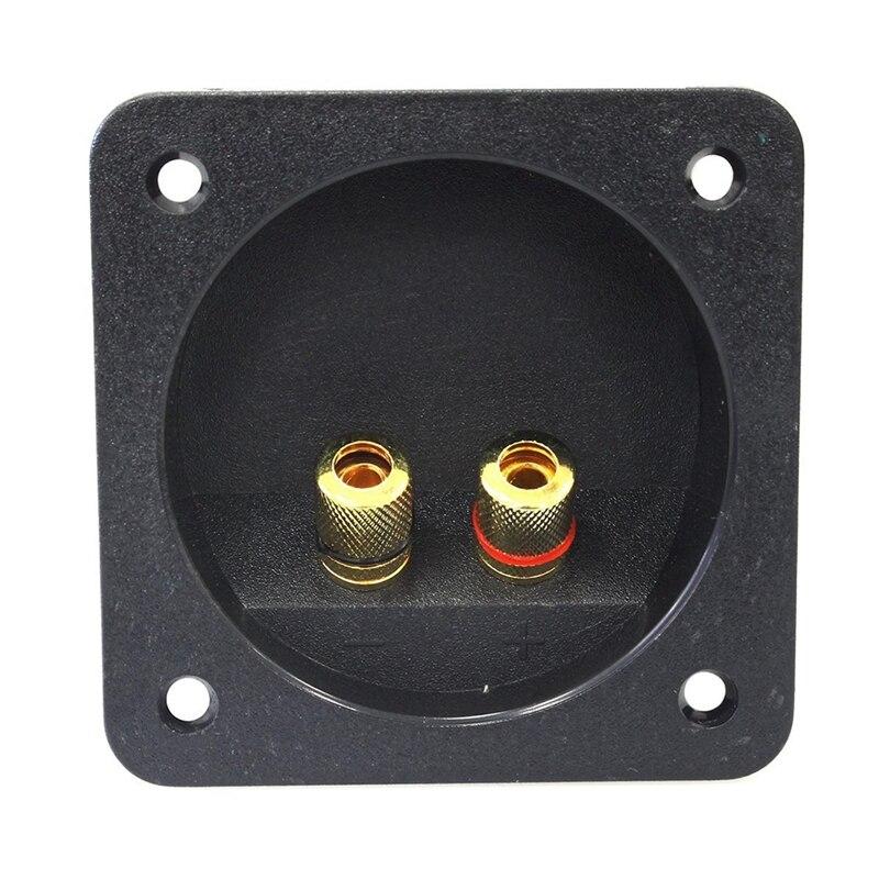 DIY домашний автомобильный стерео винт чашки разъемы сабвуфера 2-полосная акустическая коробка Клеммная Клемма, 2 шт черный
