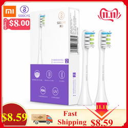 2 pçs xiaomi soocare x3 soocas x3 substituição escova de dentes elétrica cabeça para soocas/xiaomi mijia soocare x3 cabeças de dentes quente