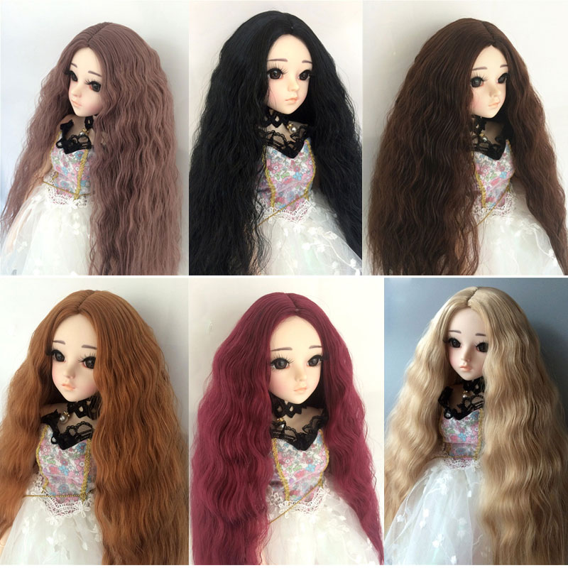 BJD Sd 1/3 1/4 1/6 1/8 Cent Leaf Girl 60 Cm Male And Female Doll Wig Part Instant Noodle Roll Doll Curl Wig Doll Accessories