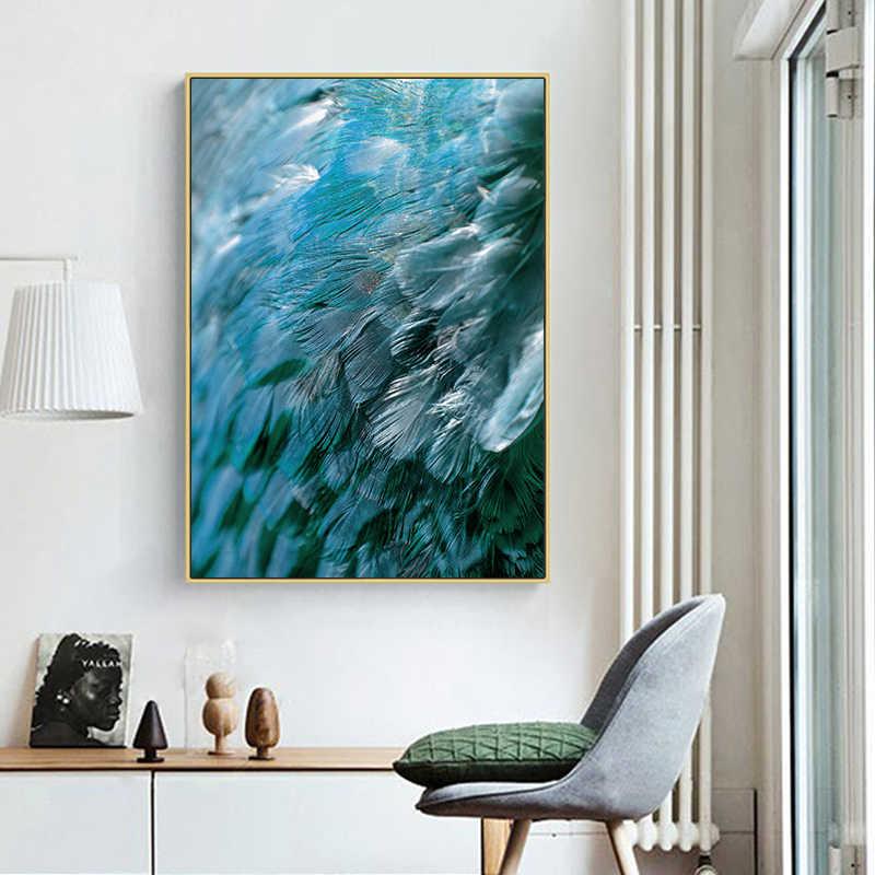 Vogel Tier Federn HD Kunst Leinwand Drucken Poster Skandinavischen Druck Wand Kunst Malerei Dekoration Bild für Wohnzimmer
