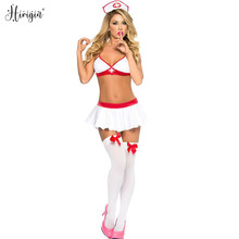 Sexy Lingerie Hot Porno Women Baby Doll Dress Erotic Lingerie Cosplay Nurse Uniform For Sex Costumes Underwear Lenceria Sexi